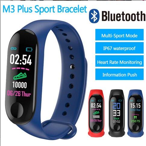 חדש M3 בתוספת חכם להקת כושר גשש שעון ספורט צמיד לב קצב דם לחץ Smartband צג בריאות צמיד מעקב