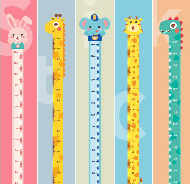 Rangefinder Growth Chart Stickers Meter Ruler Decor Kids Room Wall Stickers Children Wall Decals Height