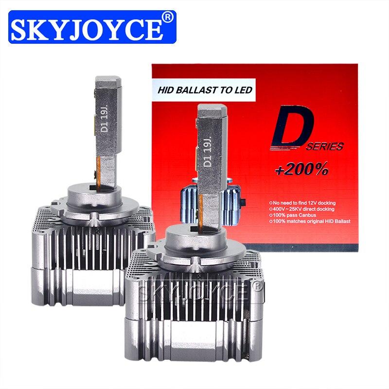SKYJOYCE – ampoules de phares de voiture, 2x45W, haute luminosité, LED D1S D2S D3S D4S D5S D8S, 6000K 90W, 10000lm, sans erreur