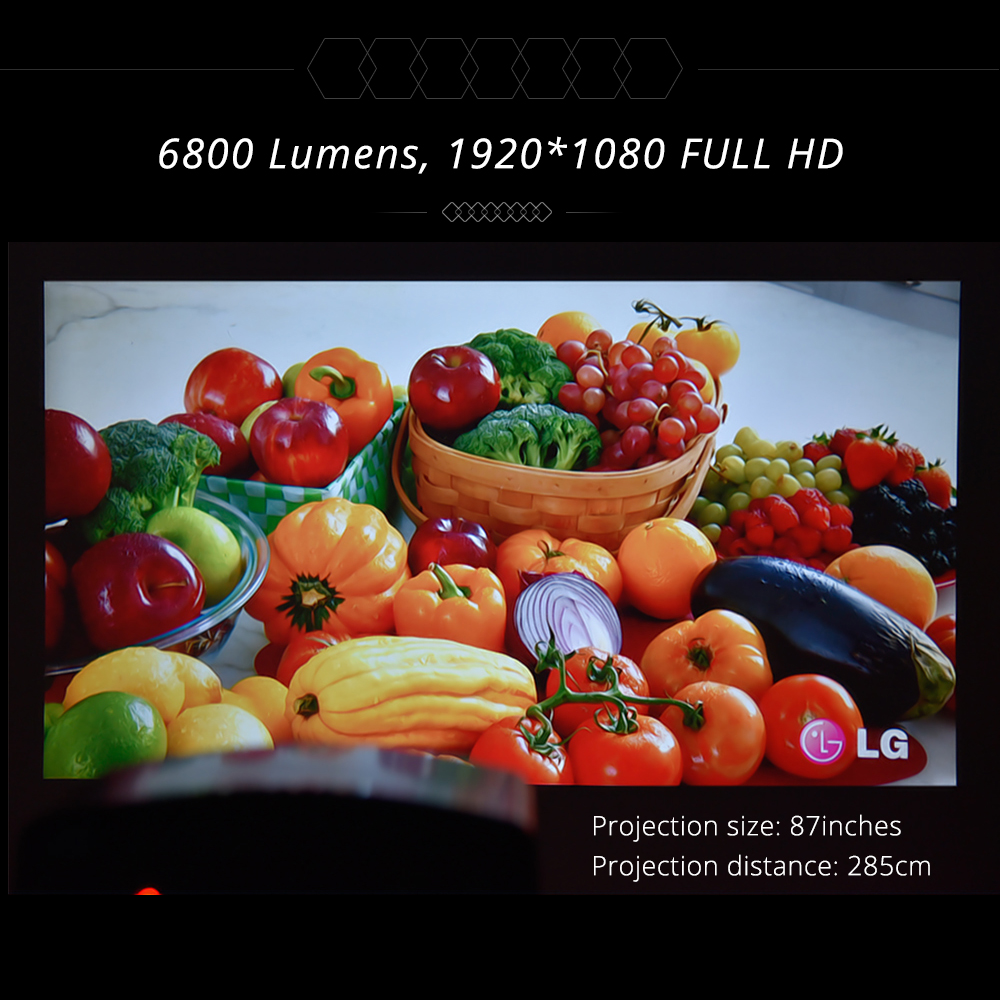 Touyinger S1080 C2 Full HD 1080P LED Projector ( 4K video Android 9 Wifi optional) Smart Home Theater AC3 200 inch 4D Keystone 6