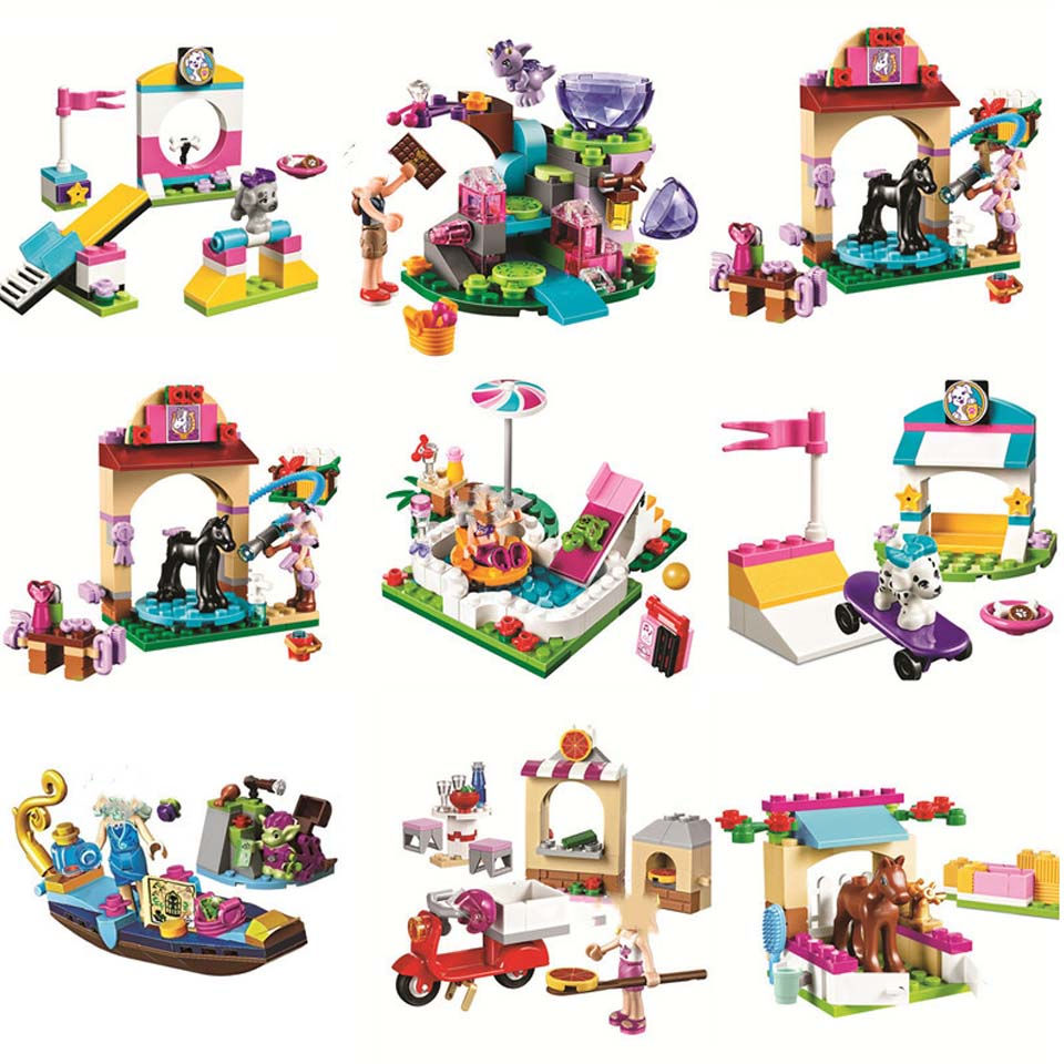 Girls Series Mia Cat Play Pet House Building Blocks Bricks Girls Toys Houses Animals Emma Legoinglys Girls Friends Princess Toys
