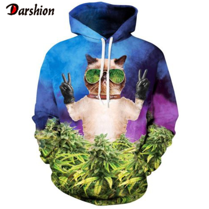 Cats Printed Hoodies Men 3d Hoodies Brand Sweatshirts Boy Jackets Quality Pullover Fashion Tracksuits Animal Streetwear Out Coat