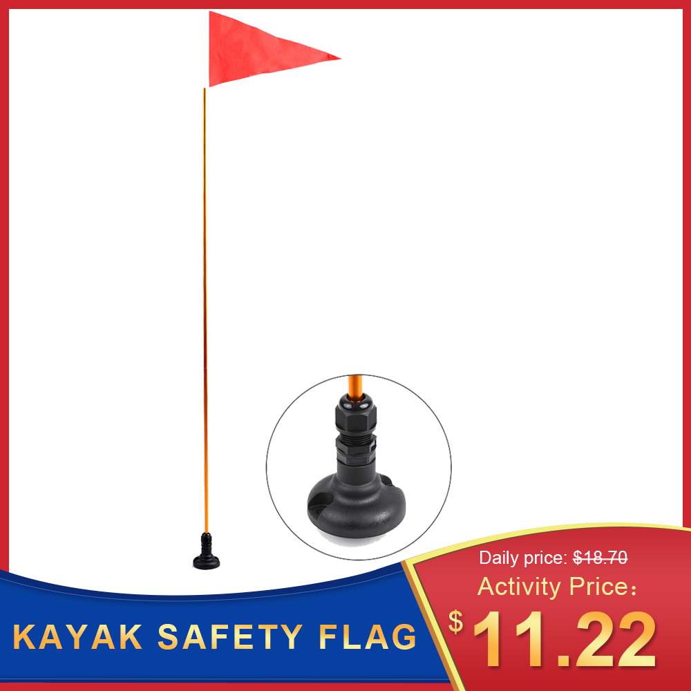 New 47inch Kayak Safety Flag Mount Kit DIY Kayak Accessories Marine Canoe Kayak Boat Fishing Canoe Yacht Dinghy Boat Flag Mount