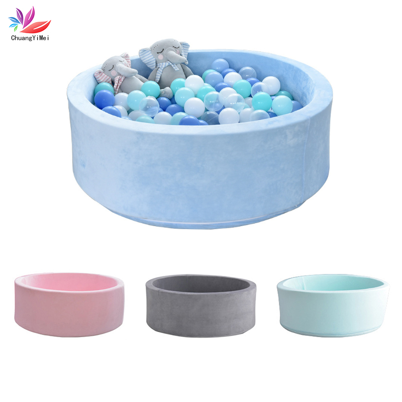 Baby Round Soft Ocean Ball Pool Pit Baby Indoor Playground Children's Playpen Baby Fence Kids Safety Barrier Birthday Gift M110