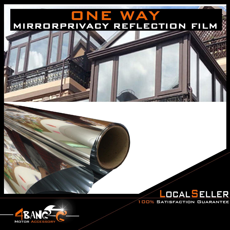50cm x3m SILVER CAR VAN HOME WINDOW FILM TINTING SHADE MIRROR EFFECT