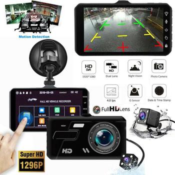цена на Car Dash Camera 1080P 4 Full HD Touch Screen Front&Rear Camera 170 degree Wide Angle Dashcam with Night Vision