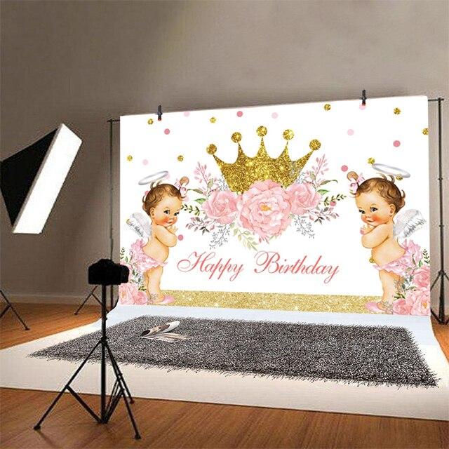 Фото фон для фотографий маленькая принцесса новорожденная вечеринка