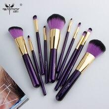 Anmor 10 Stuks Make Up Kwasten Set Voor Foundation Poeder Blush Oogschaduw Concealer Lip Oog Make Up Borstel Cosmetica Beauty Tools
