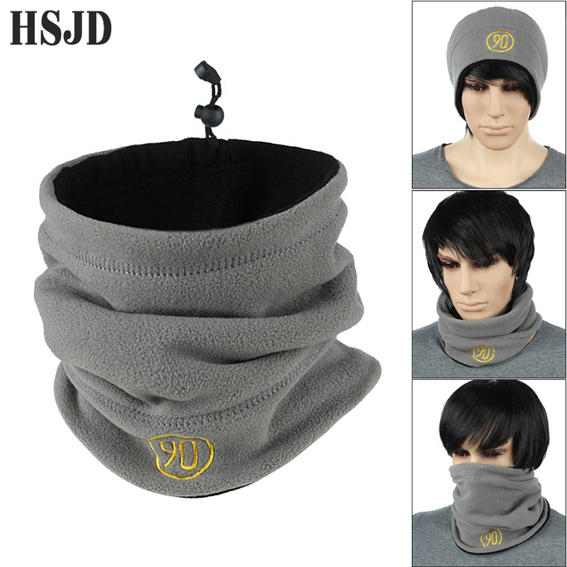Unisex Fleece Scarf Snood Neck Warmer Face Mask Beanie Hats Women Men Winter Spring Casual Outdoor Sport Multifunction Warm Cap