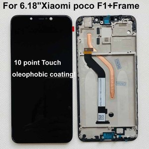 """Image 3 - 100% New Original+Frame For 6.18""""Xiaomi poco F1 LCD Display Touch Screen Digitizer Assembly for xiaomi mi Pocophone F1(10 point)"""