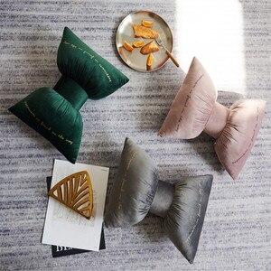 Одноцветная подушка с бантом с наполнением/автомобильные декоративные подушки украшения для дома, дивана, Декор, однотонная подушка, Цветн...
