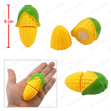Mini Vegetables Corn Girl Character Play Cooking Game Model Set Cutting Safety Suit Diy Children Christmas Gift Educational Toys