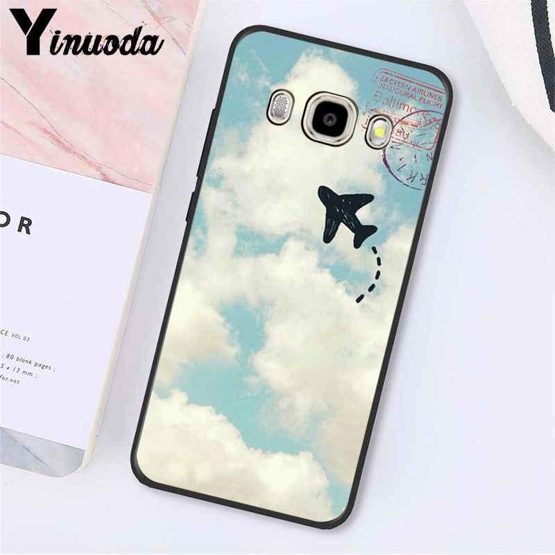 Yinuoda aviones avión volar de nube avión suave caso de teléfono para Samsung Galaxy J7 J6 J8 J4 J4Plus J7 DUO J7NEO J2 J5 primer