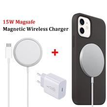 Magnético 15w carregador sem fio rápido carregamento portátil para o telefone 12 mini 12 pro max 12 tipo-c rápido 20w eua ue reino unido plugue carregador