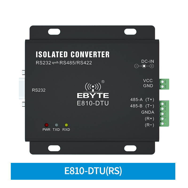RS232 TO RS485/RS422 Two Way Transparent Transmission E810-DTU(RS) Long Distance Server Port Converter Voltage Protection