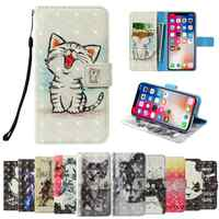 3D flip wallet Leather case For TP-Link Neffos C7 Lite C7s C5 Plus Max C5A C5s C7A C9A C9 N1 X9 Y5s X1 Lite C5L Y50 Phone Cases
