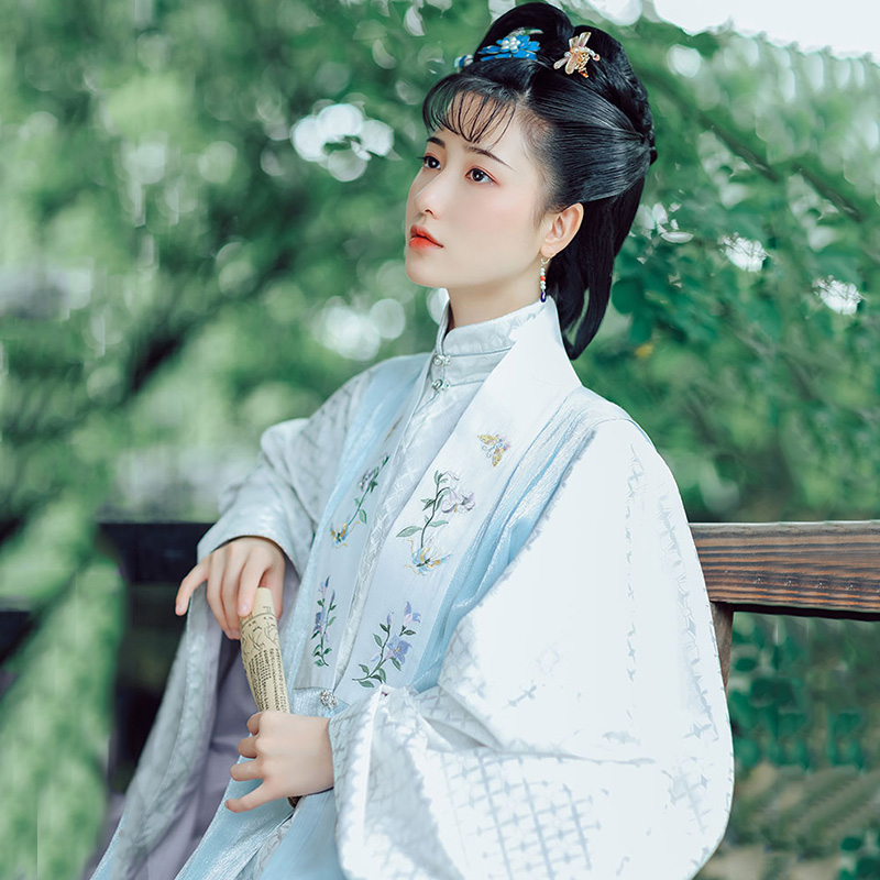 Embroidery Hanfu Women Classical Dance Costume Oriental Festival Outfit Ming Rave Performance Clothes Chinese Fairy Dress DF1078