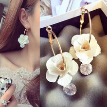 Korean version of three-dimensional flower pendant earrings 2019 New Fashion Sweet Earrings Femme Brinco Wholesale Jewelry