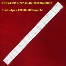 43 cal podświetlenie LED ZDCX43D12-ZC14F-02 303CX430032 LISTWA CX430M02 r pikseli LE-4329 CX430DLEDM LC430DUY-SHA1 43EX6543 LC430DUY