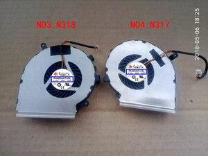 Ventilador para MSI GE72 GE62 PE60 PE70 GL62 GL72 GP62 6QG MS-1794 MS-1795 GE72VR GP72VR 6RF 7RF PAAD06015SL N317 N318 N371 N372 N389