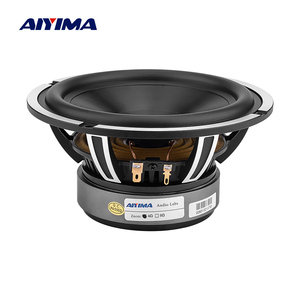 AIYIMA 1Pcs 6.5 Inch Woofer Speaker 50W 4 Ohm Bass Audio Car Sound Speaker Driver Aluminum Ceramic Black Diamond Cast Booksheft