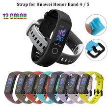 Duoteng силиконовый ремешок на запястье для huawei honor band