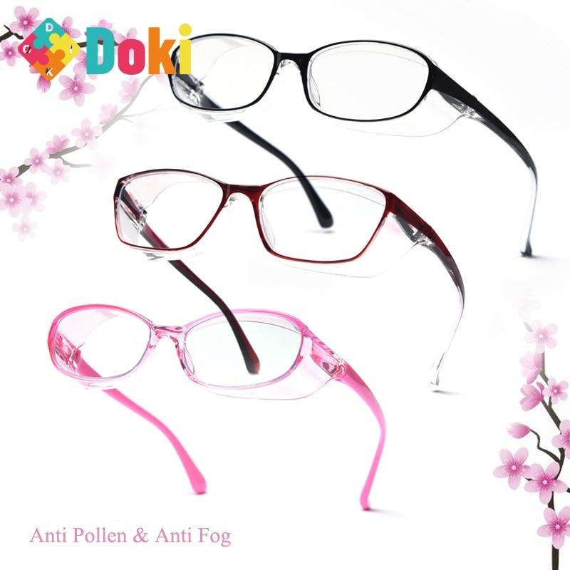 Doki Toy TR90 Frame Japanese Anti-pollen & Anti-fog Clear Lens Goggles Adult Children Wind Prevention Sand Resistance Glasses