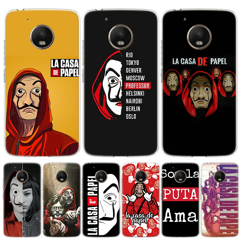 TV La Casa De Papel Phone Case For Motorola Moto G7 G8 G6 G5S G5 E6 E5 E4 Plus Power G4 One Action X4 EU Gift Coque Cover