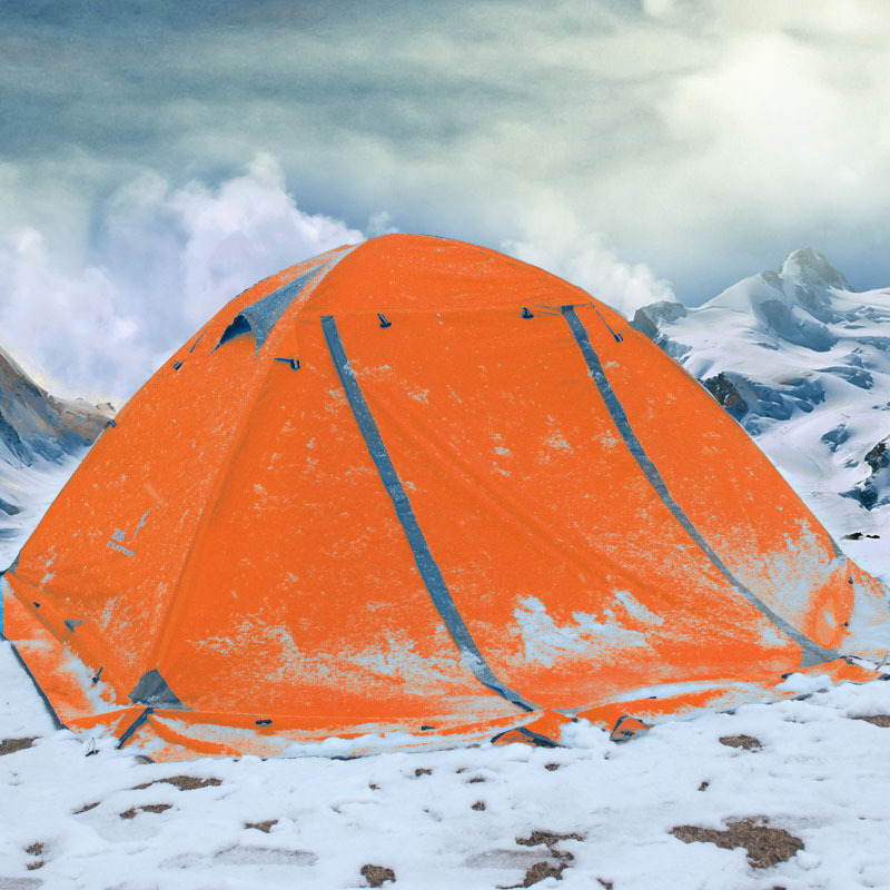 Кемпинг палатка открытый 3 4 человек двойной алюминиевый полюс ветрозащитный шторм со снежной юбкой дикая палатка - 2