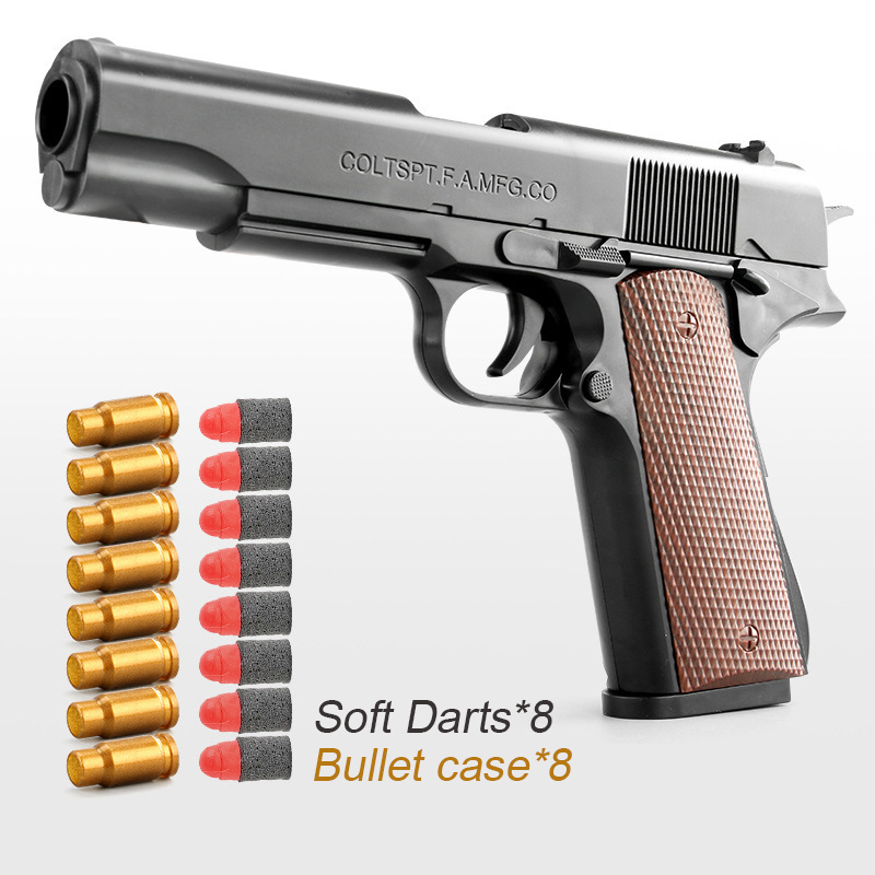 Plastic EVA Foam Darts Bullets Gun Glock Toys Case Accessories M1911 Pistol Handgun Soft Paintball Bolt Action Airsoft Air Gun B