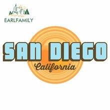 EARLFAMILY – autocollant de voiture pour San Diego californie, étiquette de moto automobile, 13cm x 7.6cm, décoration Graffiti étanche, DIY bricolage