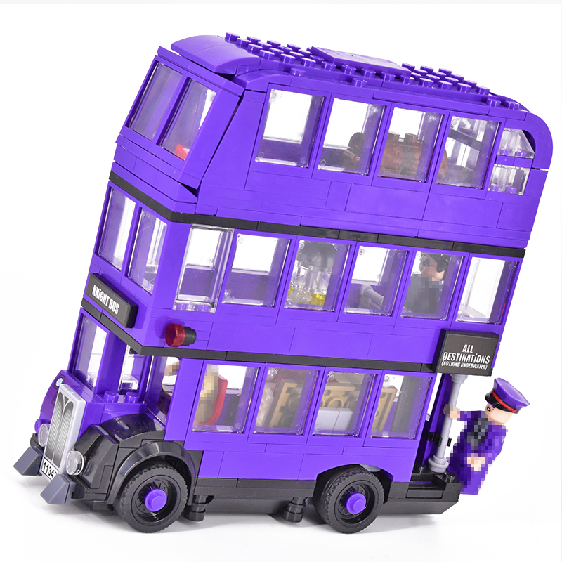 419pcs Classic The Magic Knight Bus Harri Movie Building Blocks Bricks Model 75957 Compatible With Toys For Children