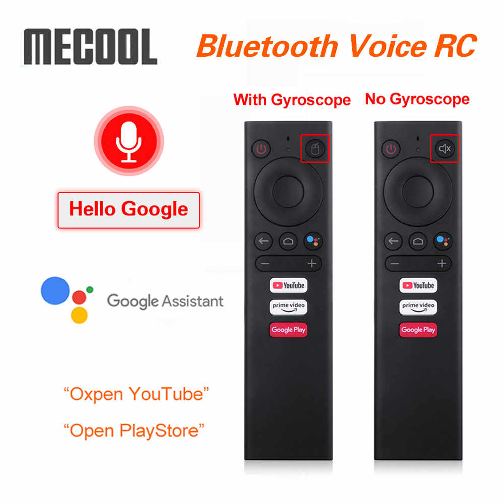 Mecool Suara Bluetooth Remote Control Penggantian Giroskop Udara Mouse untuk Android TV Box Mecool KM1 ATV Google Voice TVBox