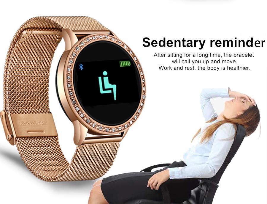 Reloj inteligente LIGE para mujer con monitor, seguidor Fitness de frecuencia cardíaca y presión arterial 10