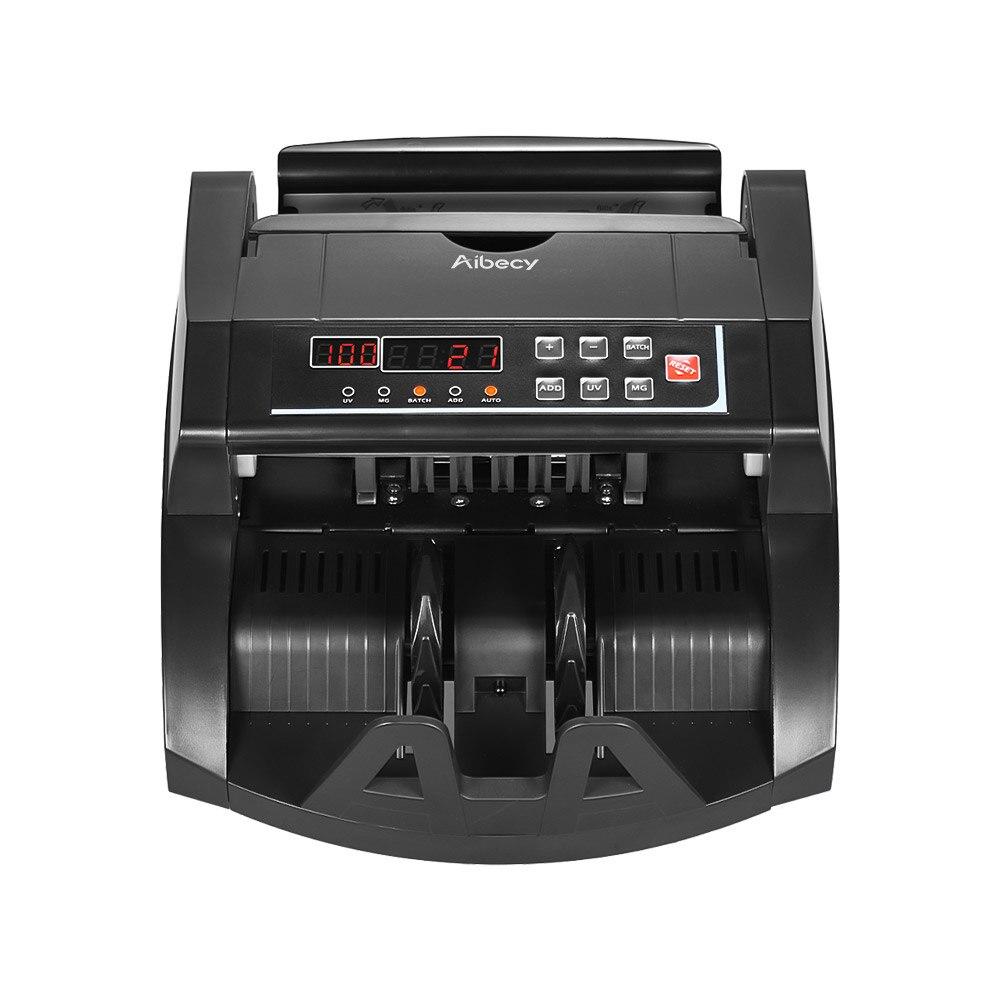 Image 3 - Aibecy multi waluta licznik banknotów gotówka pieniądze Bill automatyczna maszyna licząca IR/DD wykryj wyświetlacz LCD dla dolara amerykańskiego EuroLiczarki i testery pieniędzy   -