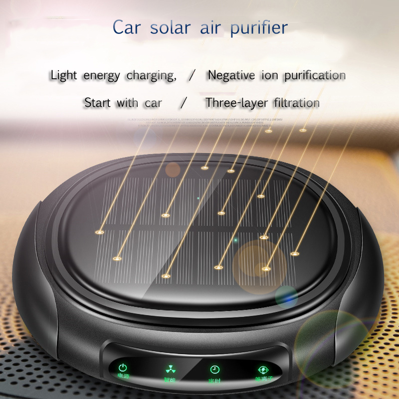 1Pcs Smart Car Negative Ion Air Purifier Car Aromatherapy Solar Mini Car Air Purifier Used To Remove Formaldehyde Inside The Car