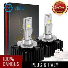 Stella D1S D2S D4S PHARE LED Kit CanBus D1R D2R D3R D4R D5R D8R AMPOULE Led Sous Lentille pour Hyundai pour Audi pour vw remplacer caché