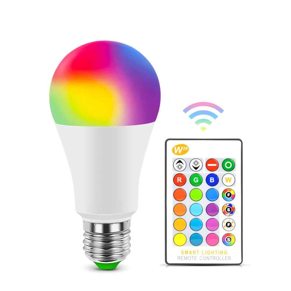 E27 Bluetooth RGB Led-lampe Lampe E14 LED Lampe Mit IR Fernbedienung Glühbirne Indoor Hause Decor Smart IC beleuchtung Lampe