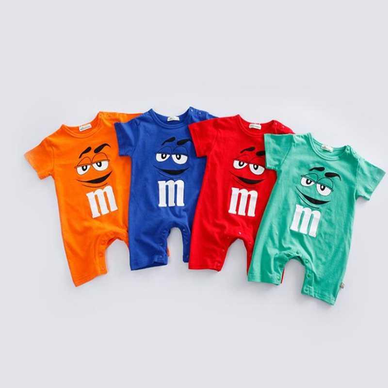 Baby Baby Zomer Kleding Hoge Kwaliteit 100% Katoen Mooie Leuke Pasgeboren Jongen Meisje Rompertjes Cartonn Kids Baby Outfits Kostuum 0 -24M