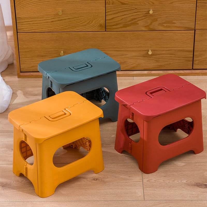 Plastic Folding Children's Stools Portable Multi Purpose Foldable Travel Train Outdoor Sturdy Step Stool Home Kitchen Garage