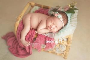 Image 3 - Dvotinst Newborn Photography Props for Baby Retro Handmade Rattan Basket Bucket Fotografia Accessories Studio Shoots Photo Props