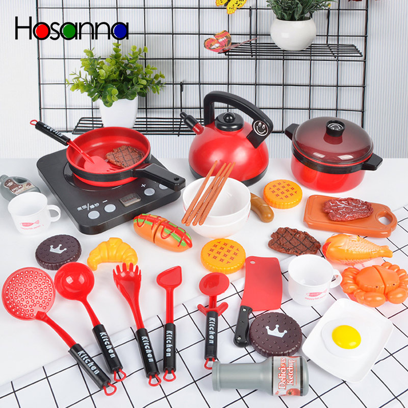Children Pretend Play Toys Simulation Kitchen Utensils Boys And Girls Large Kitchen Set  For Kids  Gifts For Kids Miniature Food