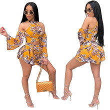 Sexy Fashion Women Summer Playsuit Hollow Out Off Shoulder Female Romper Overall