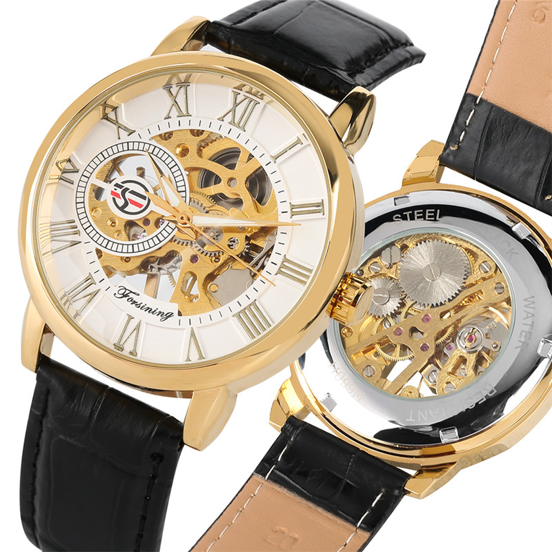 Relogio Masculino Mechanical Watch Movement For Men Transparent Skeleton Dial Mechanical Watches Business Style Watch For Boy