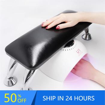 Najwyższa jakość czarne prawdziwa skóry ręcznie poduszka reszta stół do Manicure ręcznie poduszka uchwyt podłokietniki Nail Art Stand 20 # tanie i dobre opinie CN (pochodzenie) Genuine Leather nail Hand pillow Podpórki dla rąk 1300g