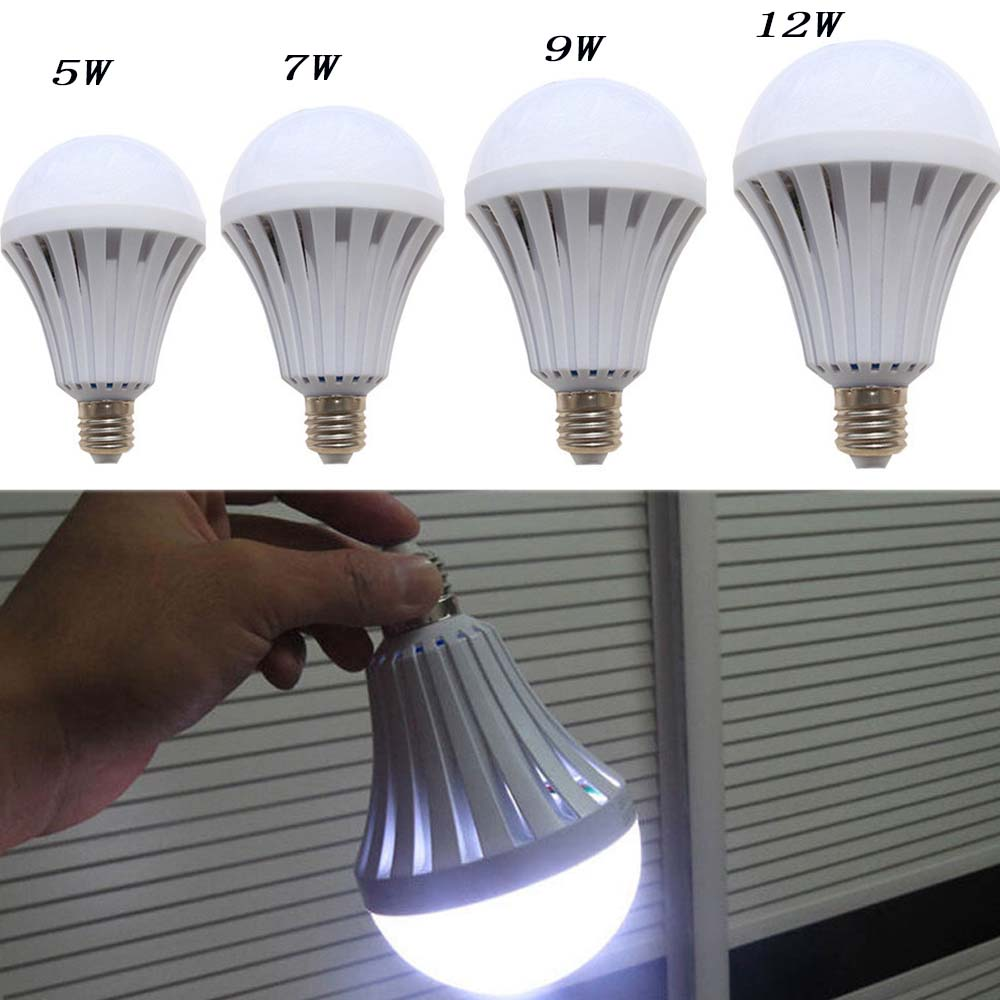 LED Smart Emergency Bulb E27 5w 9W 12W Led Emergency Light AC220V Rechargeable Battery Lighting Lamp For Outdoor Lighting Bombil