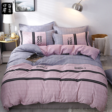 Bedding Set 4Pcs/Set Bed Textile Products 16 Style Bed Set Cartoon Bed Sheet Pillowcase & Duvet Cover Print Cotton Multicolor flamingo random print bed sheet set