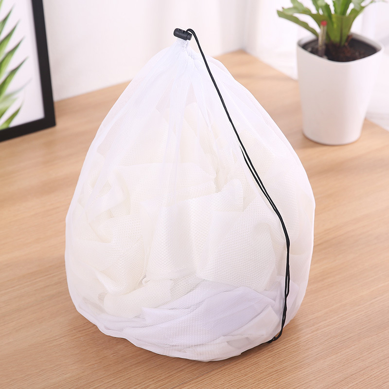 Clothing Care Fine Mesh Bags Thicken Fine Lines Drawstring Laundry Bag Bra Underwear Protective Bags Laundry Supplies