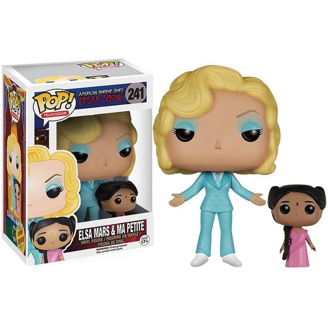 FUNKO POP American Horror Story: Freak Show Clown 243# Bette and Dot Pepper Elsa Vinyl Action Figure Toys Models for Kids Gifts 5