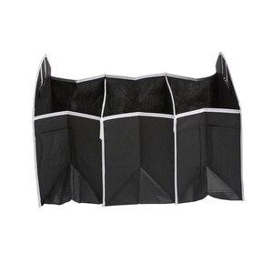 Image 3 - Auto Rücksitz Organizer Multi Tasche Lagerung Tasche Große Kapazität Klapp Auto Stamm Verstauen Aufräumen Zubehör